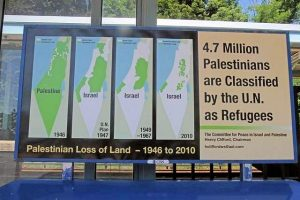 U.S. activist's billboard map of shrinking Palestine territory at a train station in White Plains caused an uproar in 2012